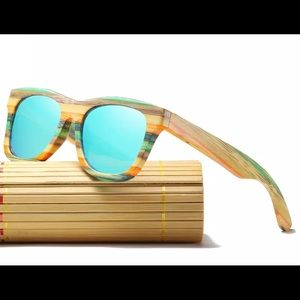 Accessories - July Arrival! Bamboo Sunglasses and Box Polarized